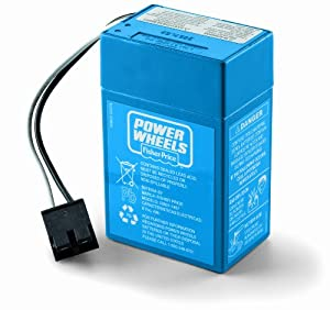 Power Wheels Toddler 6-Volt Rechargeable Replacement Battery by Fisher Price