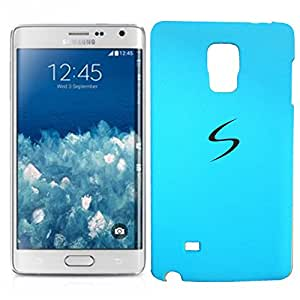 Chavanz Rubberised Matte Hard Case Back Cover For GALAXY Note Edge (SM-N9150ZWETGY) Skyblue