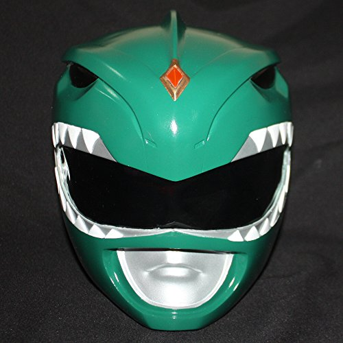 1:1 Halloween Costume Mighty Morphin Power Ranger Helmet Mask Green PR03