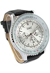 YouYouPifa Men's Cool Fashion Office Style Mechanical Wrist Watch With Automatic Movement (White)