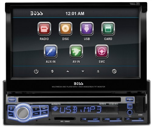 BOSS AUDIO BV9973 Single-DIN 7 inch Motorized Touchscreen DVD Player Receiver, Wireless Remote (Discontinued by Manufacturer) (Honda Odyssey Dvd Remote compare prices)