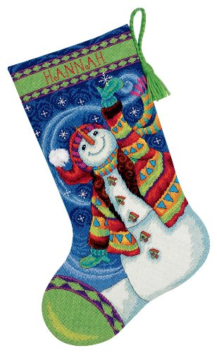 Dimensions Needlecrafts Needlepoint, Happy Snowman Stocking