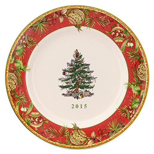 Spode Christmas Tree Annual Edition 2015 Collector Plate, Multicolor Spode Christmas Tree Annual