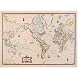 American Map Cleartype Full-Color Antique World Map, 50 x 38 Inches (629013)