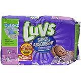 Luvs Newborn Ultra Leakguard Super Absorbent Diapers 40 Count