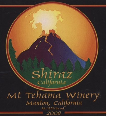2008 Mount Tehama Winery Shiraz California 750 Ml