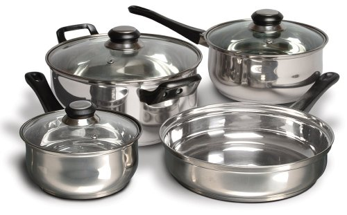 Cuisine Select Alverton 7 Piece Stainless Steel Cookware Set