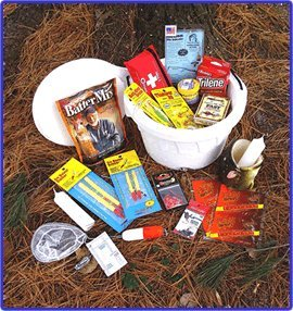 ice fishing bucket gift basket toys games