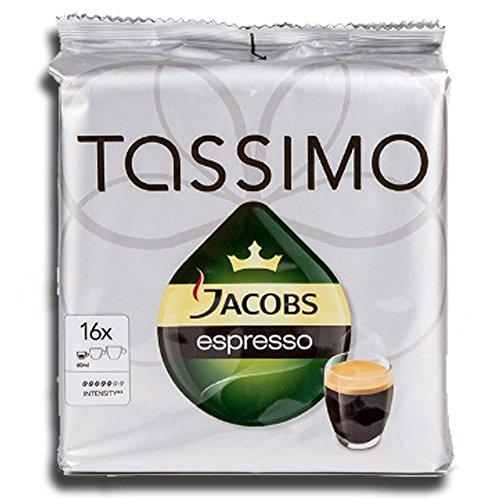 Choose Factory Sealed Pack Tassimo T-Disc Pods Jacobs Espresso Coffee - 16 Servings - Tassimo