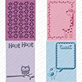 Cuttlebug Cricut Companion Embossing Folders 4/Pkg-Create A Critter (2) 5''X7'' & (2) A2