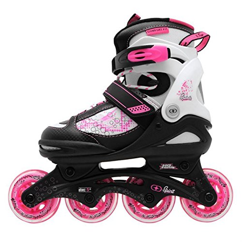 no-fear-kids-children-girls-spirit-inline-skates-roller-blades-sports-black-wht-pink-uk-1-35