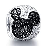 Soufeel 925 Sterling Silver Disney Mickey Mouse Head Ball Charms Fit Pandora Bracelets