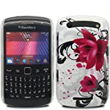 Flower IMD Glossy - Hard Mobile Phone Case Cover For BlackBerry Curve 9350 9360 9370 / White