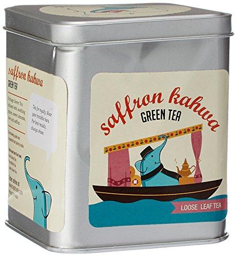 Tea Trunk Saffron Kahwa Loose Leaf Green Tea, 100G