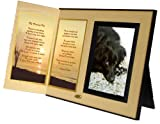 Pet Lover Remembrance Gift, My Forever Pet Poem, Memorial Pet Loss Picture Frame Keepsake and Sympathy Gift Package, Ginger with Foil Accent