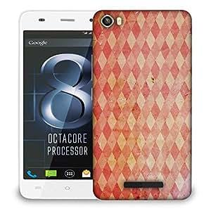 Snoogg Multicolor Blocks Pattern Designer Protective Phone Back Case Cover For LAVA IRIS X8