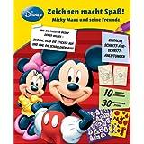 Disney Zeichnen: Mickey Mouse: Zeichnen macht Spaß! Micky Mouse und seine Freunde: Set mit 30 lustigen Stickern...
