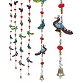 EtsiBitsi Rajasthani Handcrafted Peacock Door Hanging Home Decor- Set Of 2