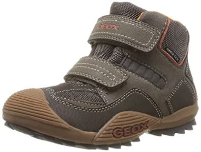 Geox J SAVAGE WP T J3424T054CEC0616, Jungen Sneaker, Braun (BROWN/ORANGE C0616), EU 28