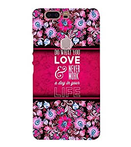 Love Message Design 3D Hard Polycarbonate Designer Back Case Cover for Huawei Honor V8