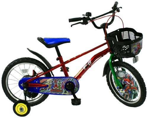 JoyPalette(ジョイパレット) 幼児車 烈車戦隊トッキュウジャー 16インチ [補助輪付き] レッド 1416