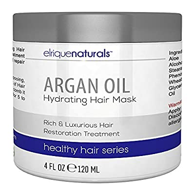 Argan Oil Hair Mask - Pure Argan Oil Of Morocco - Rich And Luxurious Argan Oil Leave In Hair Treatment - Elrique Naturals Argan Oil Hair Products With Pro Vitamin B5 Panthenol