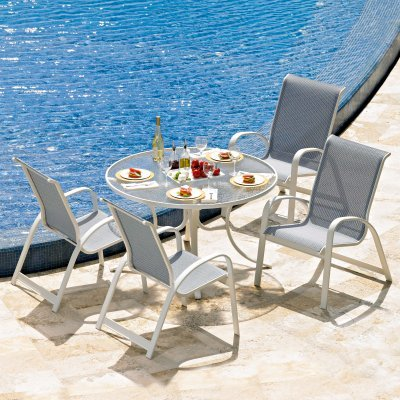 Telescope Casual Primera Sling Patio Dining Set - Seats 4 - Tsc695
