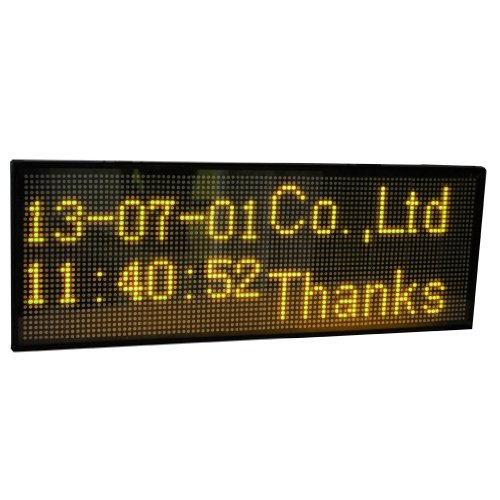 """Amber Usb Programmable Scrolling Led Sign Board For Shop And Business 30""""X11"""""""