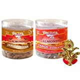 Chocholik Dry Fruits - Almonds Jamaican Jerk & Tangy Tomato With Ganesha Idol - Diwali Gifts - 2 Combo Pack