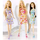 Barbie®, Trendy Doll Assortment K3326 Featured With Long Hair Trendy Bright Dresses With Striking Patterns, K3326...