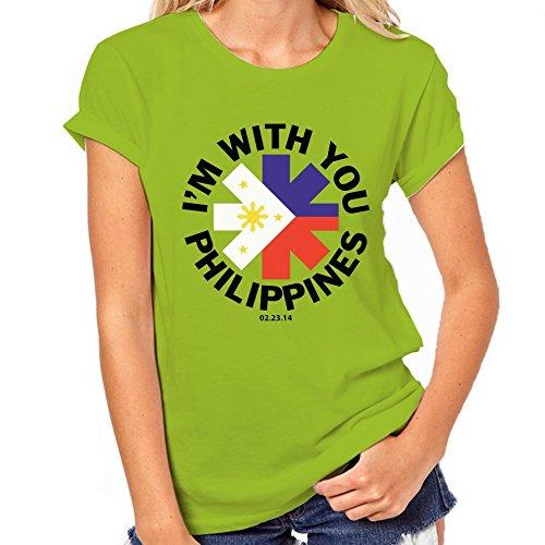Red Hot Chili Peppers Filippine-Maglietta classica da donna verde XX-Large