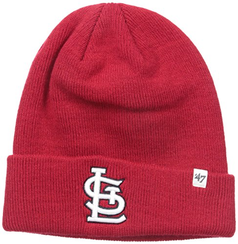 mlb-st-louis-cardinals-47-raised-cuff-knit-hat-red-one-size