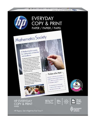 HP Everyday Copy and Print Paper 20 Pound, 92