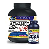 Advance 100% Whey Protein 2kg Vanilla & Advance BCAA 600mg 180 Capsules Combo Offer