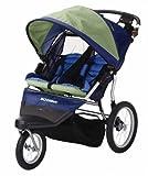 Schwinn Free Wheeler 2 Double Swivel Wheel Jogging Stroller (Green/Blue)