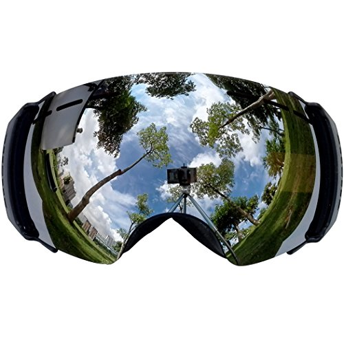 reflective snowboard goggles  Lagopus X10 Ski Snowboard Goggles with Frame/Frameless Mode REVO ...