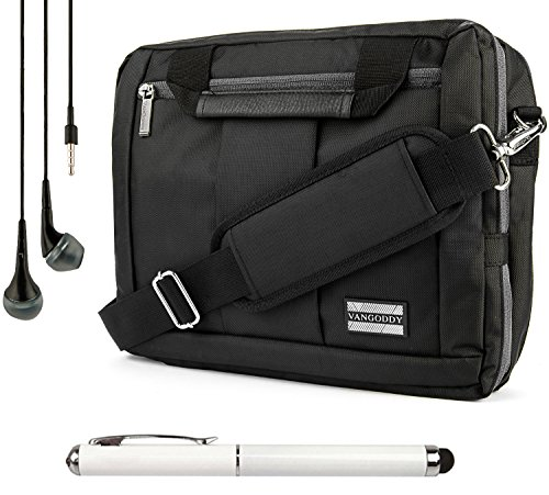 "El Prado Travel Carrying Bag, Messenger Bag & Backpack For Microsoft Surface Pro 3 Windows 8.1 Pro 12"" Tablet + Handsfree Earphones + Stylus"