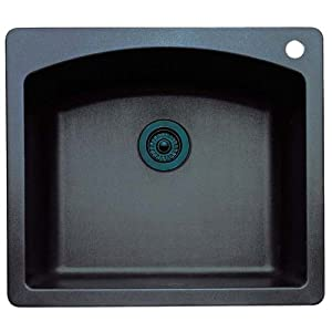 Blanco 511-612 Diamond 25-Inch-by-22-Inch Single Bowl Kitchen Sink, Anthracite Finish