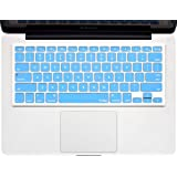 """Kuzy - SKY BLUE Keyboard Cover Silicone Skin for MacBook Pro 13"""" 15"""" 17"""" (with or w/out Retina Display) iMac and MacBook Air 13"""" - Sky Blue"""