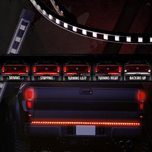 60 pollici camion portellone Light Bar LED rosso / bianco di guida della luce DRL inversione stop girare segnale di freno della coda striscia della lampada della luce d'avvertimento per Ford GMC Chevy Dodge Toyota Nissan Honda camion SUV 4x4 Dodge Ram