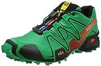Salomon Men's Speedcross 3 Trail Running Shoe (9.5 D(M) US, Real Green / Red / Black)