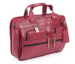 Claire Chase Slimline Executive Briefcase, Red, One Size