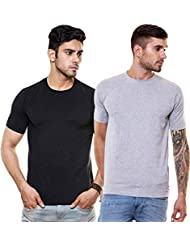 EnquotismPack Of 2 Plain Round Neck T-shirts - B01GQ01ZTC