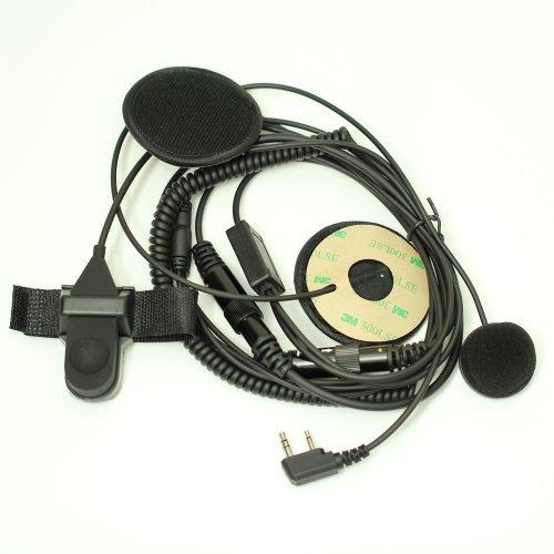 F Type Full Face Moto Motorcycle Bike Helmet Earpiece Headset Mic Microphone For 2-Pin Icom Maxon Yaesu Vertex Radio