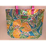 Lilly Pulitzer for Estee Lauder Floral Beach Tote Bag