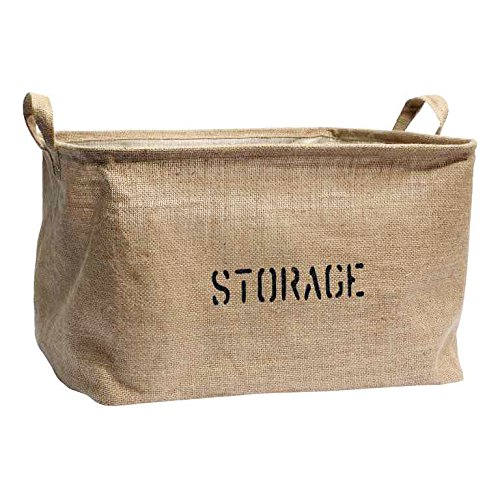 Medium or Large Jute Storage Bin for Toy Storage - Storage Basket for organizing Baby Toys, Kids Toys, Baby Clothing, Children Books, Gift Baskets. (Canvas Storage Bins compare prices)