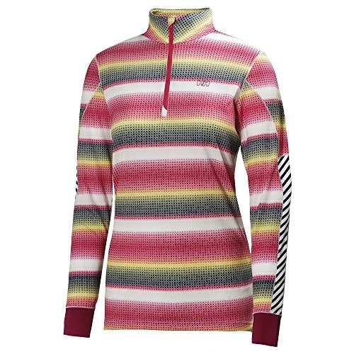 Helly Hansen 2014/15 Women's HH Active Flow Graphic 1/2 Zip Long Sleeve Shirt - 48464 (Magenta/Multisquare - S)