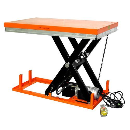 """Bolton Tools New Stationary Electric Powered Hydraulic Lift Table - 2200 Lb Of Capacity - 39.4"""" Max Height - Model Et1001"""