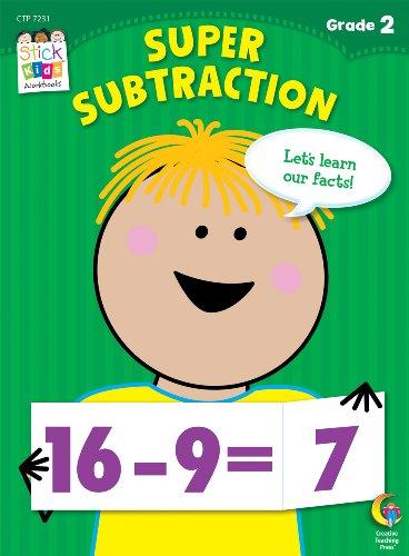Super Subtraction Stick Kids Workbook, Grade 2 (Stick Kids Workbooks) (Math Facts Chart compare prices)