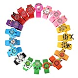 1x kids children's (boys or girls) slap on snap silicone band Mickey, Nemo, bees, frog, panda, bunny wrist watches for party gift bags by Fat-catz (1x boys snap watch)
